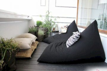 Trang trí không gian sống bằng ghế lười hạt xốp